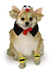 Costume features hat with bat details and black collar with red bow under chin, includes matching black and yellow paw cuffs. Rubie's pet costume collection features hundreds of non-licensed and licensed costumes. The vast selection of pet co...