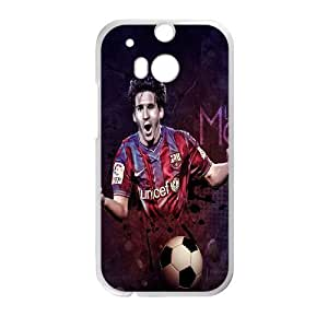Generic Design Back Case Cover HTC One M8 Cell Phone Case White Lionel Messi Alyage Plastic Case