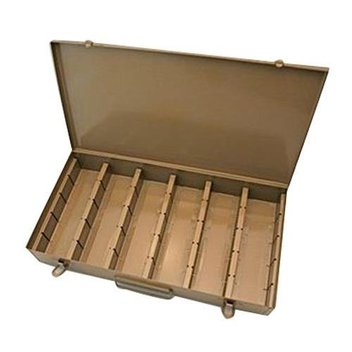 Logan Electric Slide File, Archival Metal Storage Box Holds 750 2x2 Mounted Slides in Movable Dividers. 750523