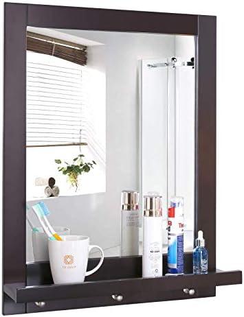 Homfa Bathroom Wall Mirror Vanity Mirror Makeup Mirror Framed Mirror