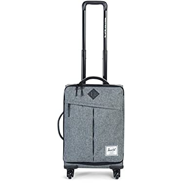 Herschel Supply Co. Highland Softside Luggage, Raven Crosshatch/Black Pebbled Leather