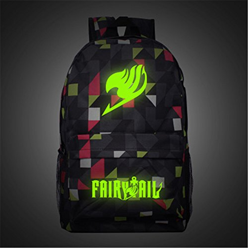 Siawasey Anime Fairy Tail Cosplay Luminous Bookbag Backpack School Bag(10 Styles)
