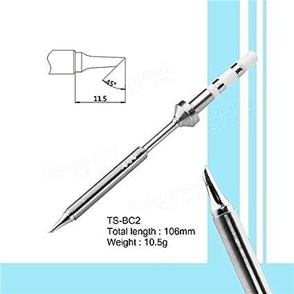 Bargain World Recambio original punta para lcd digital ts100 soldador de la soldadura: Amazon.es: Electrónica