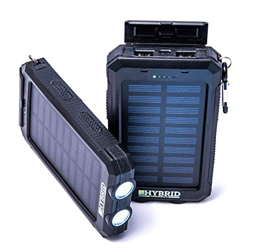 Portable Charger for Mom - The Ultimate Portable Electronic Device Solar Charger | Charge Multiple Devices at Once On The Go | Includes Compass, Flashlight, Carabiner | by Hybrid Power Products - Hybrid Solar Charger