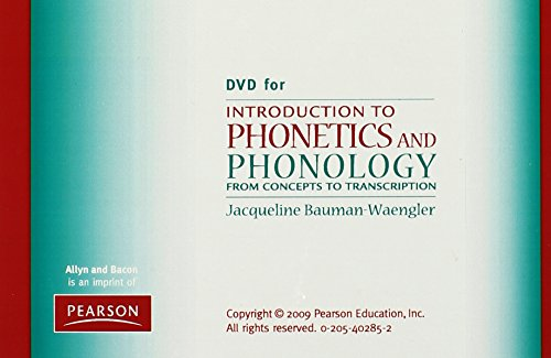DVD for Introduction to Phonetics and Phonology: From Concepts to Transcription by Pearson