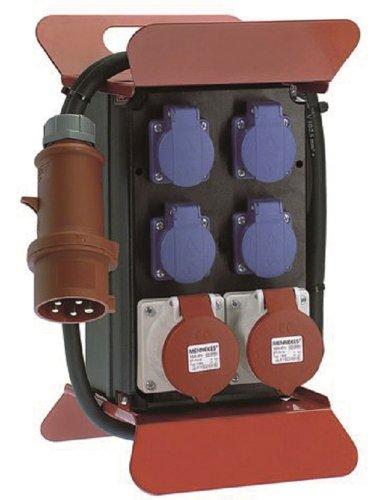 Bachmann 2381815 Stromverteiler 400V CEE, Schwarz/Rot/ Blau