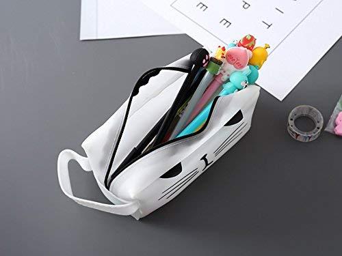 Mon5f stationery Schreibwaren Schreibwaren Schreibwaren Zubehör Federmäppchen Einfacher Stil Katze Muster Große Größe Federmäppchen Federmäppchen Federtasche (Weiß) B07MVX3KFB   Verbraucher zuerst  d49552