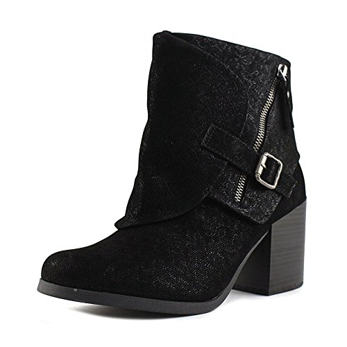 Blowfish Daxx Women Round Toe Synthetic Ankle Boot Black Embossed Fawn Pu McLxNwQqT