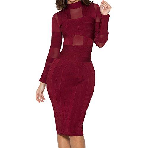 Damen XS violett HLBCBG violett Kleid fnWqa1