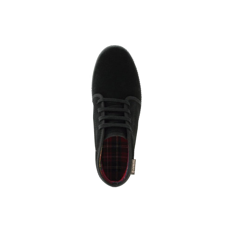 Victoria Zapatillas 06758 - Chukka Serraje con Suela Negra, Color Negro, Talla 44