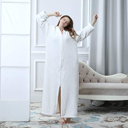 Manga Noche Mujer Vestido Dormir M Loungewear Soft Larga Ropa Para xl Kervinzhang Purple L Size De White TwSqxR