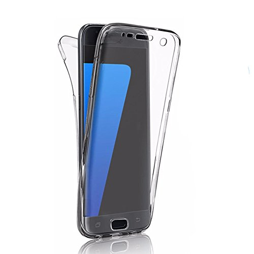 Galaxy S7 Transparent Case, iZi Way [Micro Dot - Anti Watermark] Front + Back 360 Degree TPU Full Protection for Samsung Galaxy S7 (S7 Edge)