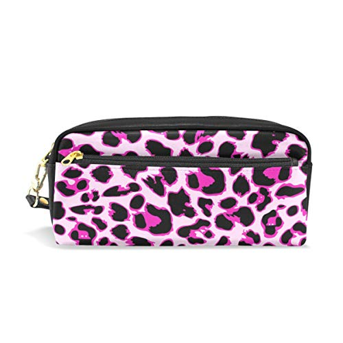 Pencil Case Leopard Skin Large Capacity Pen Bag Stationery Pouch Stationary Case Makeup Cosmetic Bag]()