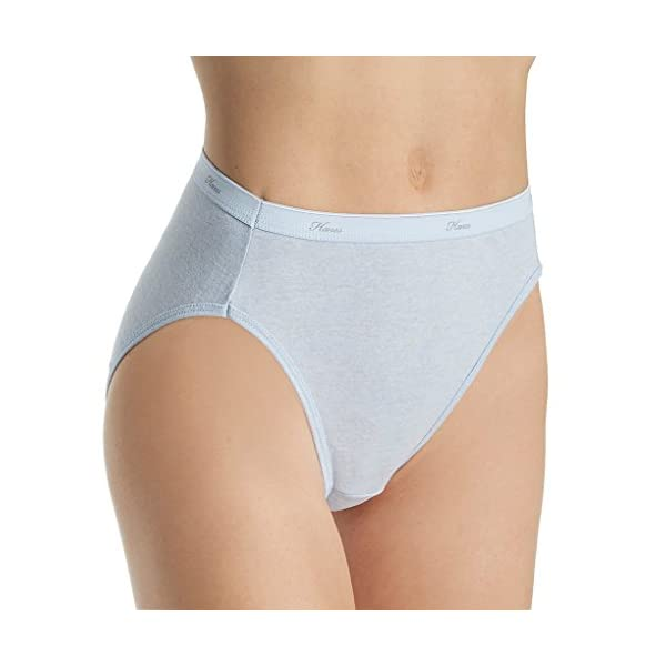 Hanes Women's Cotton Hi Cut Panty Multipack