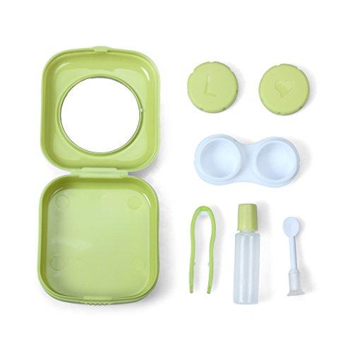 1SET Mini Contact Lens Travel Kit Case Pocket Size Storage Holder Container
