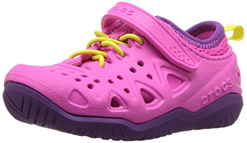 Magenta Water - Crocs Kids' Swiftwater Play Shoe, Neon Magenta, 12 M US Little Kid