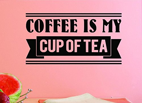 Black 14 x 28 14 Inches X 28 Inches Color Design with Vinyl US V JER 3114 2 Top Selling Decals Coffee Is My Cup Of Tea Wall Art Size