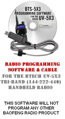 Tri Channel Kit Memory - BTech UV-5X3 Two-Way Radio Programming Software & Cable Kit