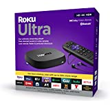 Roku Ultra   Streaming Device HD/4K/HDR/Dolby Vision with Dolby Atmos, Bluetooth Streaming, and Roku Voice Remote with Headph
