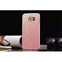 Tech Express (Tm) Pink Solid Glitter Sequin Bling Diamond Luxury Sparkly Cute Girly Kawaii Pretty Hard Cover Case for Samsung Galaxy Note 5 G920