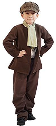 Victorian Kids Costumes & Shoes- Girls, Boys, Baby, Toddler World Book Day-Dickens-Oliver-Workhouse DELUXE COPPERFIELD BOY Costume - All Ages $63.45 AT vintagedancer.com