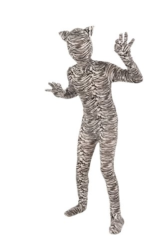 Forum Novelties I'm Invisible Costume Stretch Body Suit, White Tiger, Child (Kids White Tiger Costumes)
