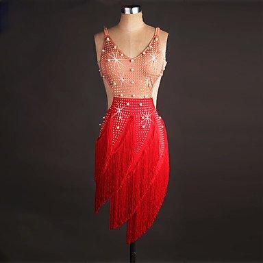 【税込?送料無料】 ラテンダンスドレス女性のパフォーマンススパンデックスオーガンザの結晶ラインストーンノースリーブドレス B07PBTH5RX B07PBTH5RX Red XL|Red Red XL XL, ビューティATLA:6eac2c6f --- a0267596.xsph.ru