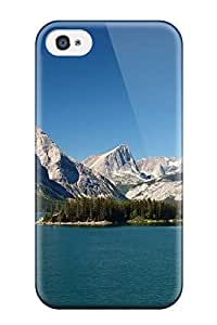 Jonathan Jo. Marks's Shop Best New Mountains And Calm Lake Skin Case Cover Shatterproof Case For Iphone 4/4s 8415368K44833654
