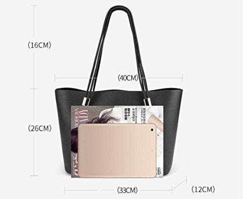 Pink Printemps Nouveau Mode Épaule tout Fourre Rose Simple Capacité Sacs Main Cuir Blanc Grand Diagonale Dames 2018 noir À Sac Classique En 1qOCC75w