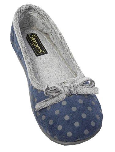 Sleepers - Zapatillas de estar por casa para mujer Azul - azul