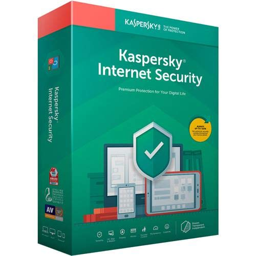 Kaspersky Internet Security 2019 Software, 3 Devices, 1-Year License, Key Card Code by Kaspersky