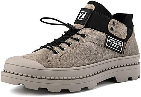 スリップカーキ - 砂漠のアンクルブーツ防水、暖かい、非あらゆる種類のカジュアルシューズマーチンブーツメンズレザーブーツゴー 快適な男性のために設計