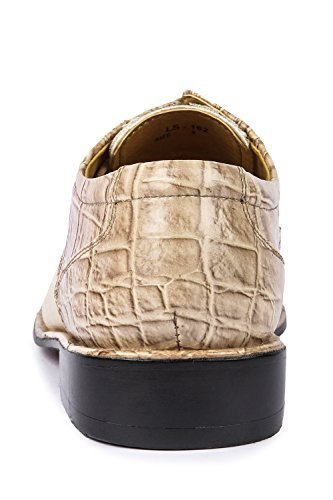 Liberty Homme Exotique Crocodile Imprimé Oxford Pu Cuir Cousu Robe Chaussures Beige