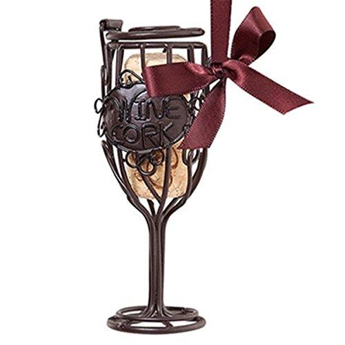 Wine Glass Cork Cage Ornament