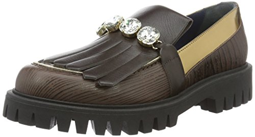 Marrón Shoes para Náuticos Pollini Mujer wAOIf7nxq
