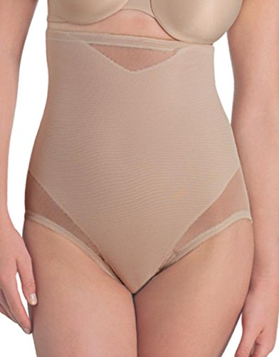 Miraclesuit Shapewear Women's Extra Firm Sexy Sheer Shaping Hi-Waist Brief, Nude ()