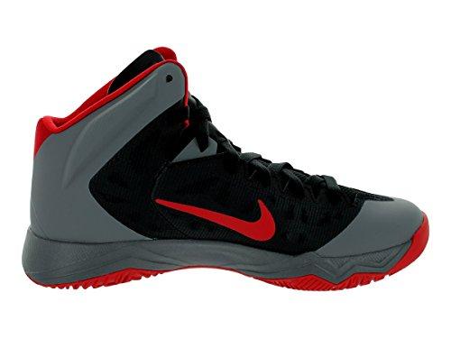 Nike Menns Zoom Hyperquickness Basketball Sko Svart / Universitet Rød / Kul Grå