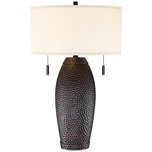 Noah Hammered Bronze Table Lamp by Franklin Iron Works