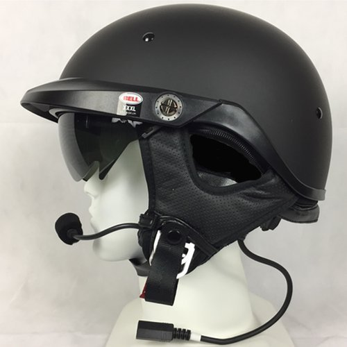 Bell Pit Boss With J&M 284 Headset and Lower Cord Honda Goldwing - Matte Black - Headsets Helmet 284