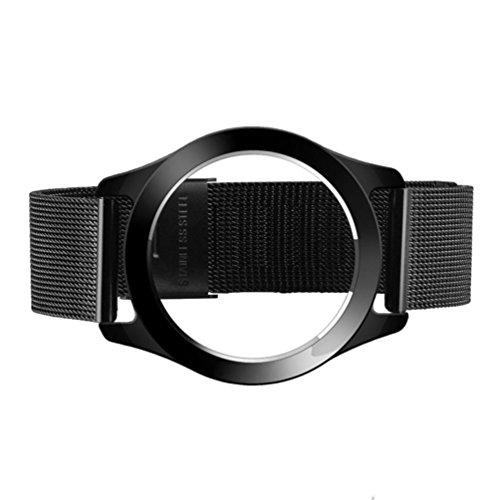 Steel Wristband Bracelet Strap Fitness Monitor Black - 4