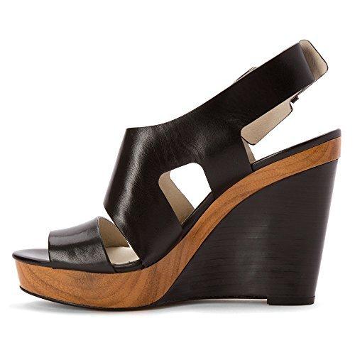 UPC 888922116364, MICHAEL Michael Kors Women's Carla Platform Wedge Sandals, Black, Size 8.5