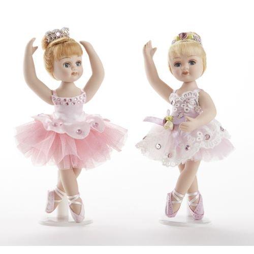 Delton 6.5 Inches Porcelain Ballerina Doll,Set Of 2