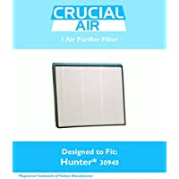 Replacement for Hunter 30940 Air Purifier Filter Fits 30210, 30214, 30215, 30216, 30225, 30260, 30398, 30400 & 30401, by Think Crucial