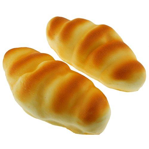 Gresorth 2 PCS Fake Cake Artificial Triangle Bread Food Model Decoration Kitchen Toys Prop -