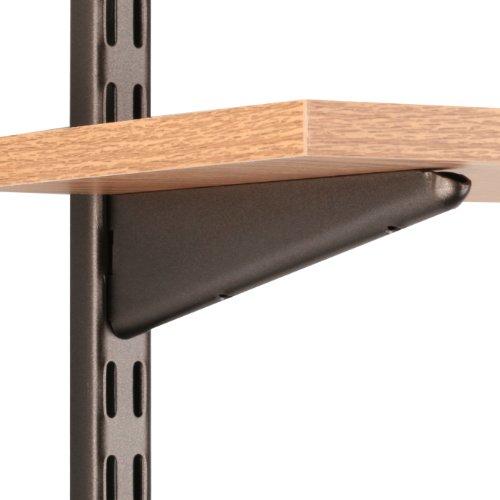 Knape & Vogt John Sterling Dual Trak Adjustable Wood Shelf Bracket, 7-Inch, Bronze, 0122-7BRZ (European Bracket Shelf)