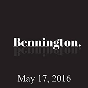Bennington, May 17, 2016 Radio/TV Program