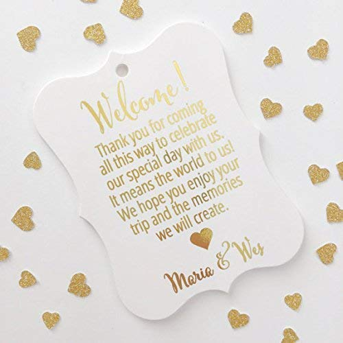 Welcome Destination Wedding Hotel Bag Tags (EC-183-F)