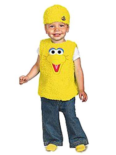 Sesame Street Infant Boys & Girls Plush Yellow Big Bird Costume 12-18 -