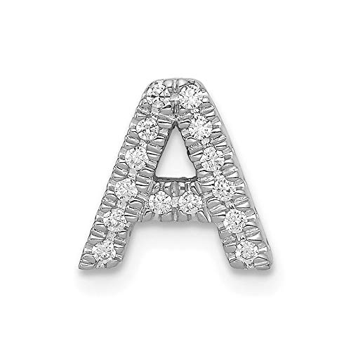 14k White Diamond Initial a Charm