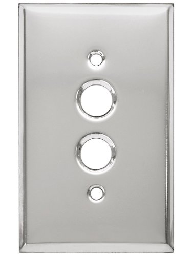 Classic Push Button Switch Plate In Polished Chrome